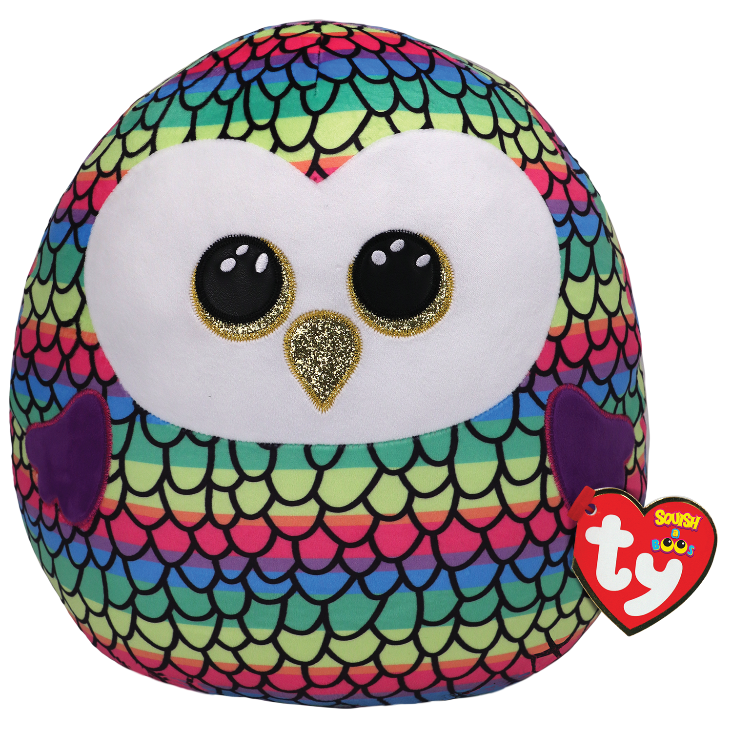 Owen - Rainbow Color Owl Large