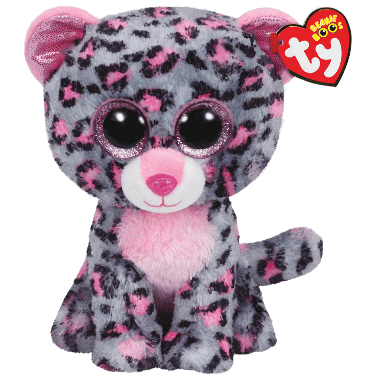 Tasha - Pink And Grey Leopard Medium