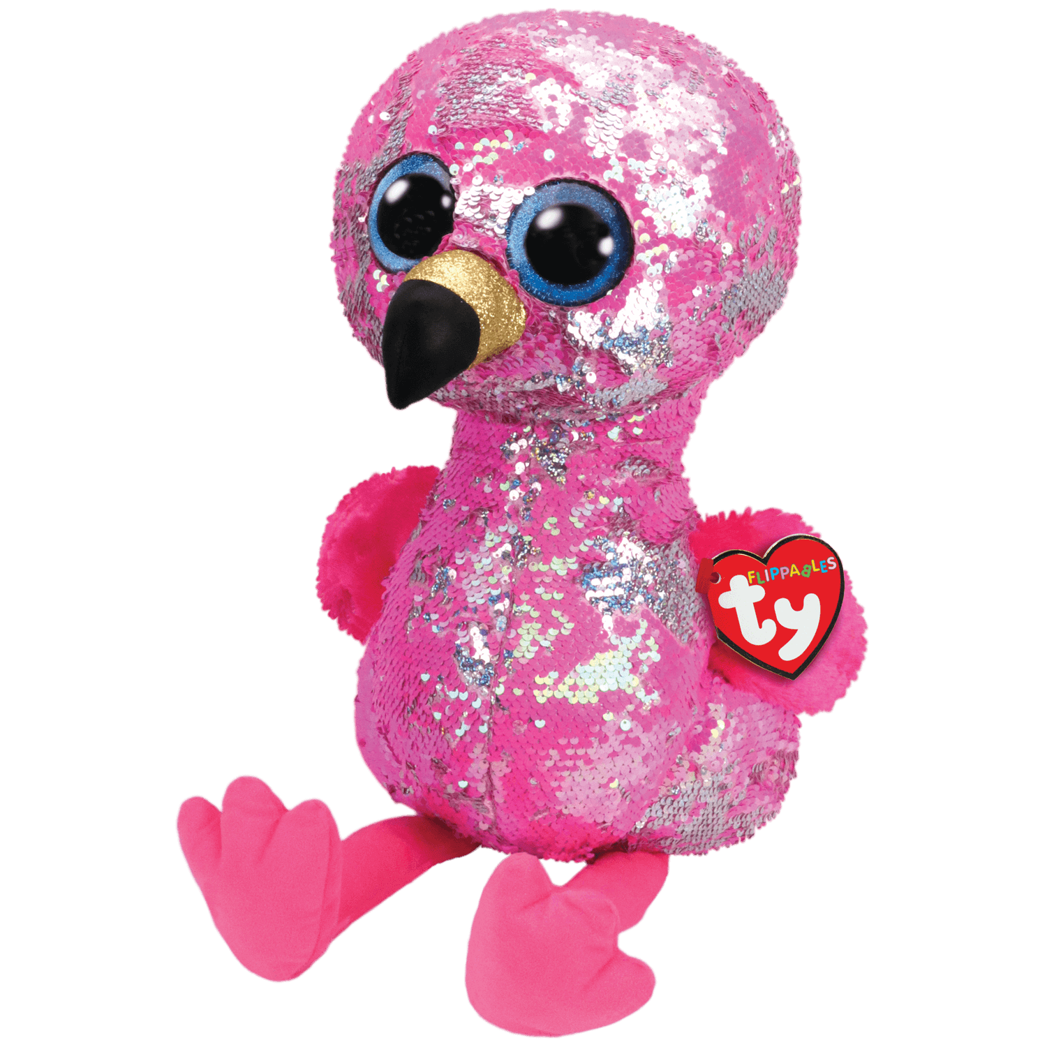 Pinky - Reversible Sequin Flamingo Large