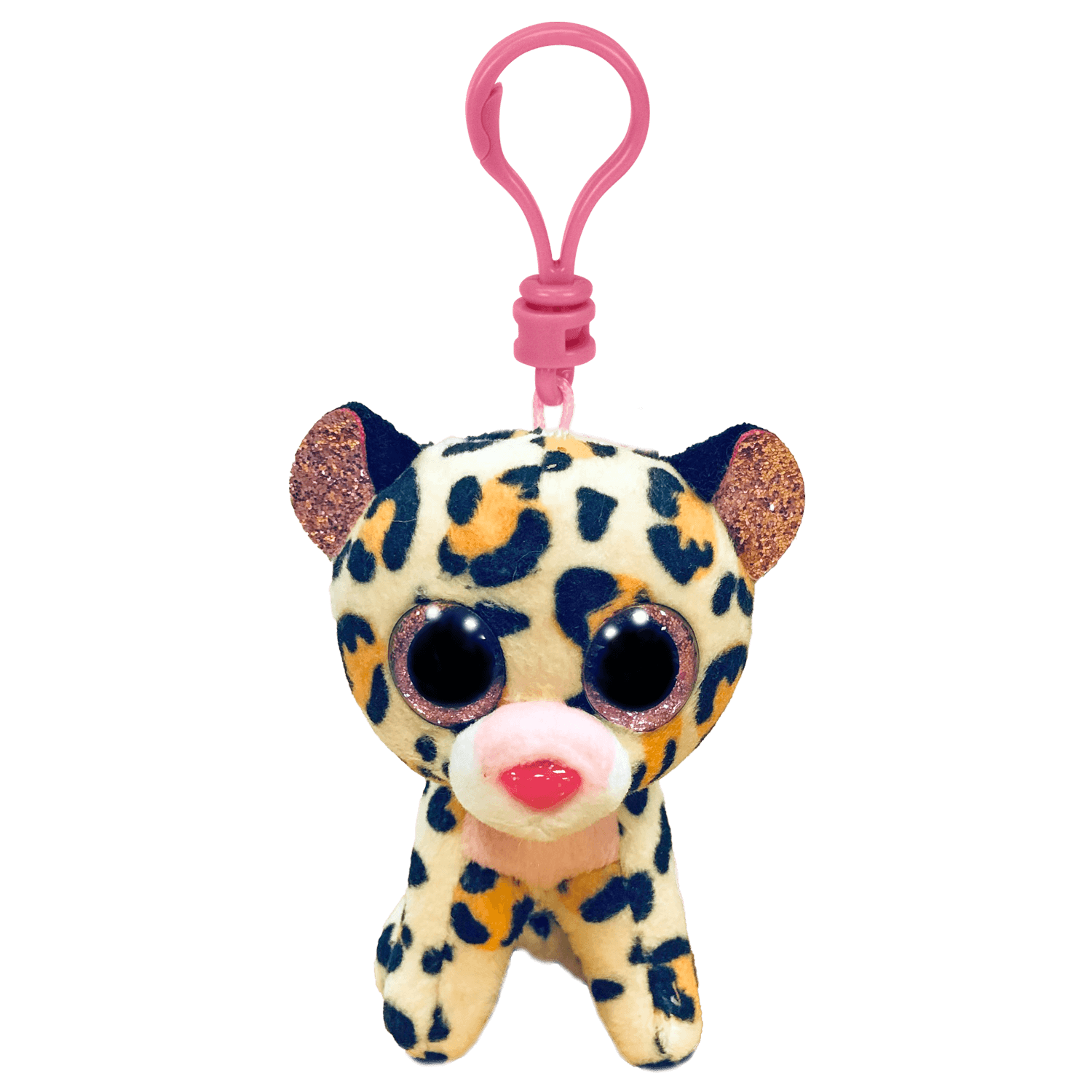 Livvie - Brown And Pink Leopard Clip