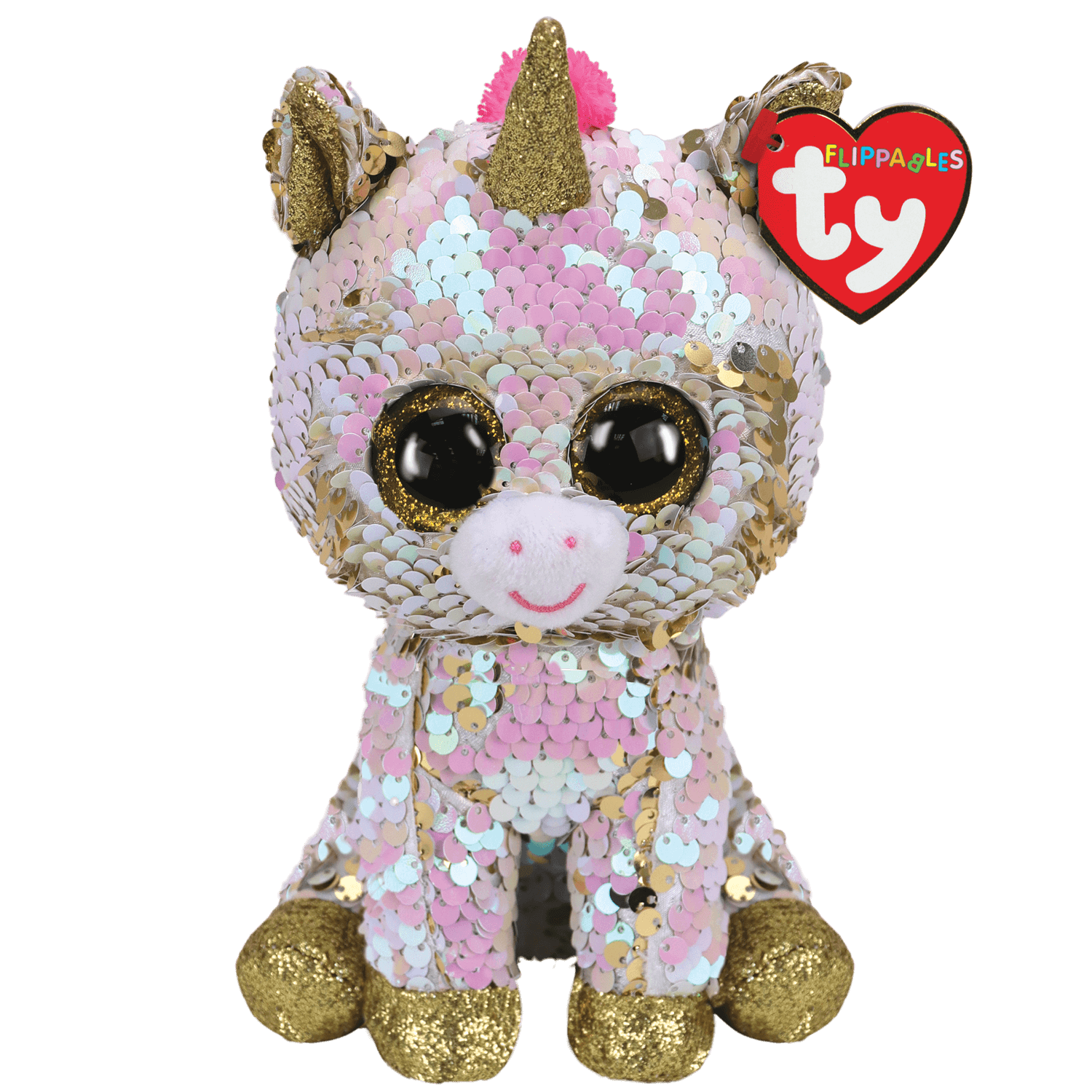 Fantasia - Reversible Sequin White Gold Unicorn
