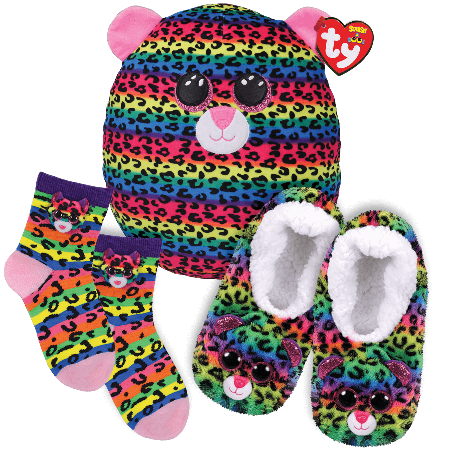 Dotty Dream Bundle - Slippers, Socks And Squish A Boo