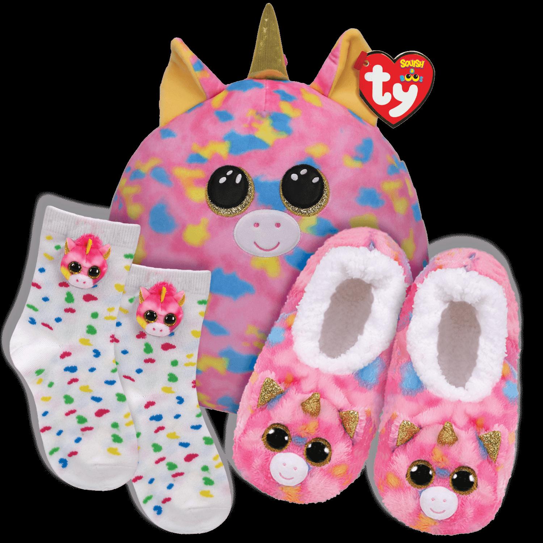 Fantasia Fantasy Bundle - Slippers, Socks And Squish A Boo