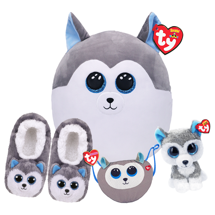 Slush Sleepover Bundle - Boo, Mask, Large Squish And Slippers