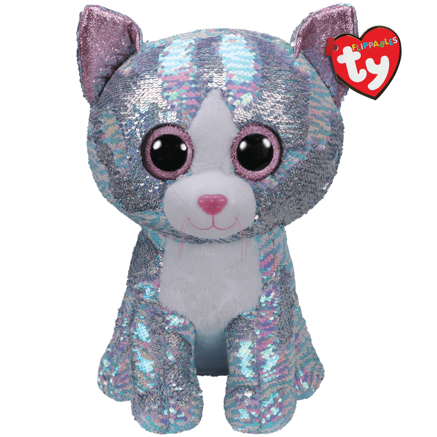 Whimsy - Reversible Sequin Blue Cat Large
