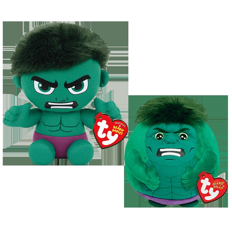 Hulk Marvel Bundle - Beanie Babies And Ballz