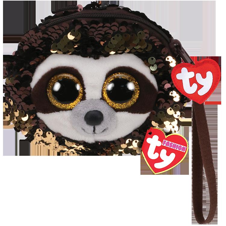 Dangler - Reversible Sequin Sloth Wristlet