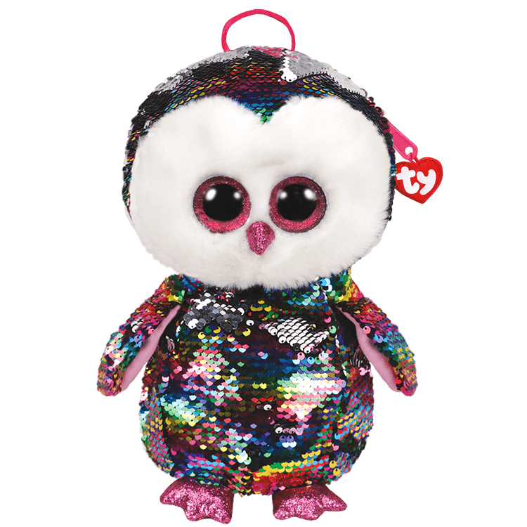 Owen - Reversible Sequin Owl Backpack