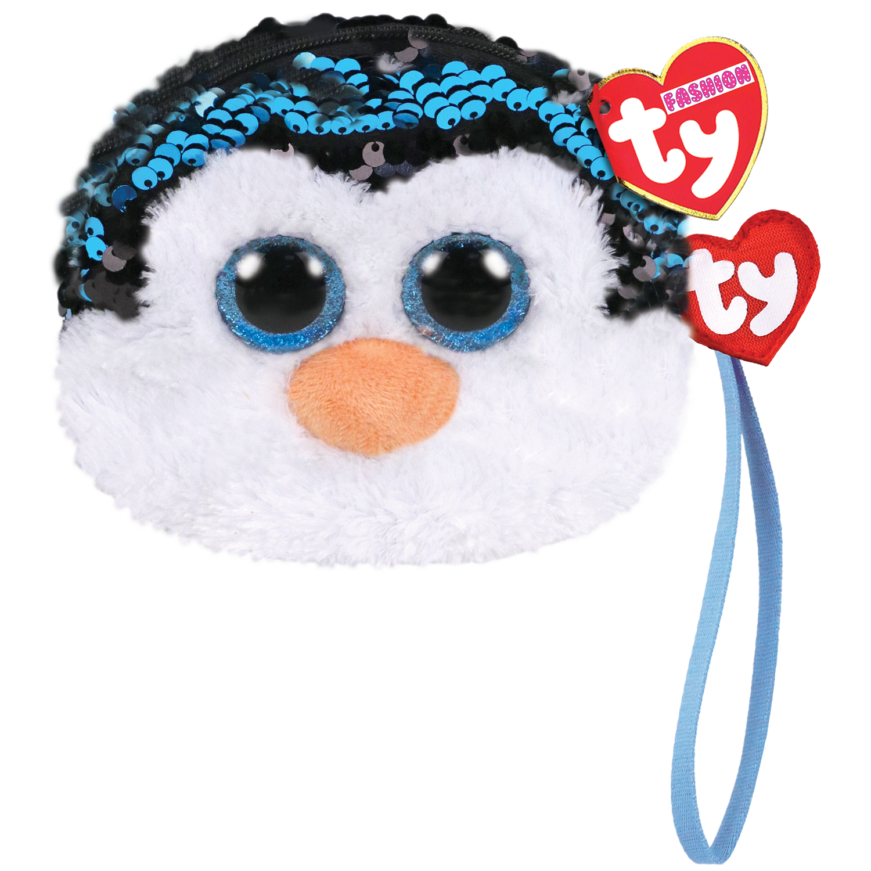 Waddles - Reversible Sequin Penguin Wristlet
