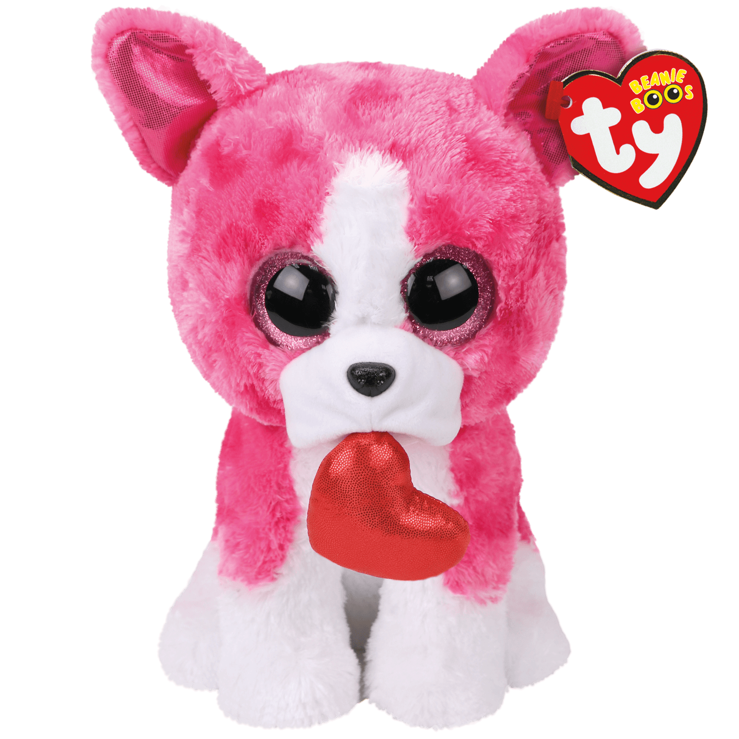Romeo - Pink Dog With Heart Medium