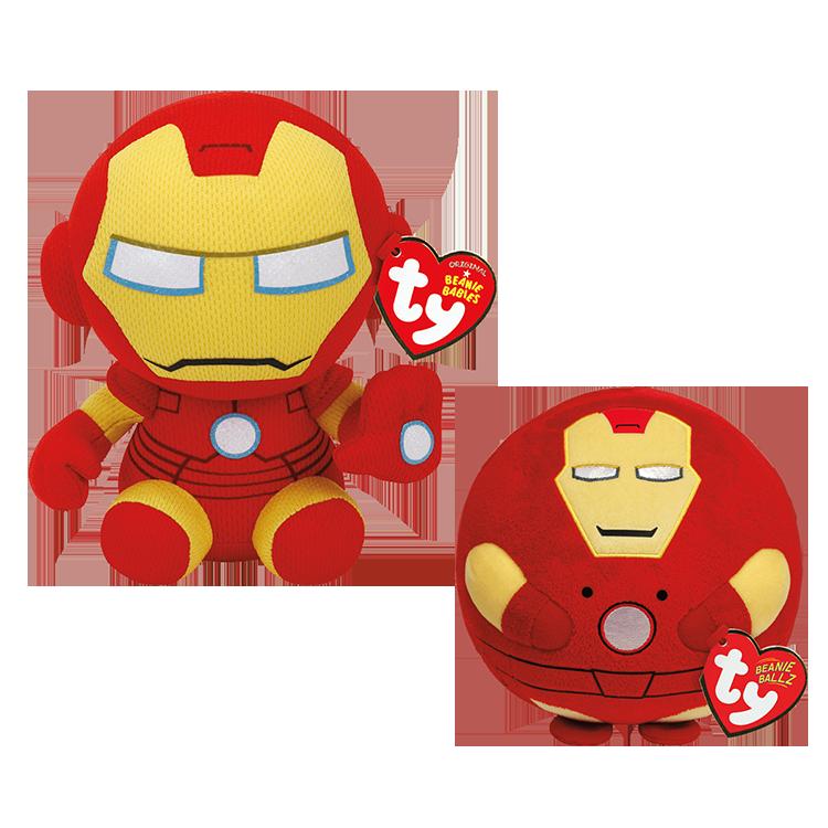 Iron Man Marvel Bundle - Beanie Babies And Ballz
