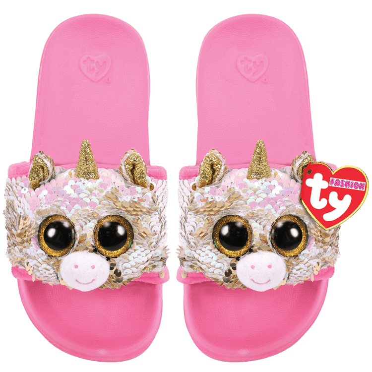 Fantasia - Reversible Sequin Unicorn Slides S/M/L