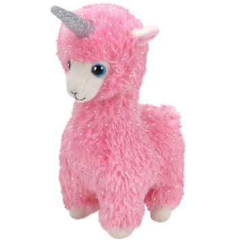 Lana - Pink Llama With Horn Medium
