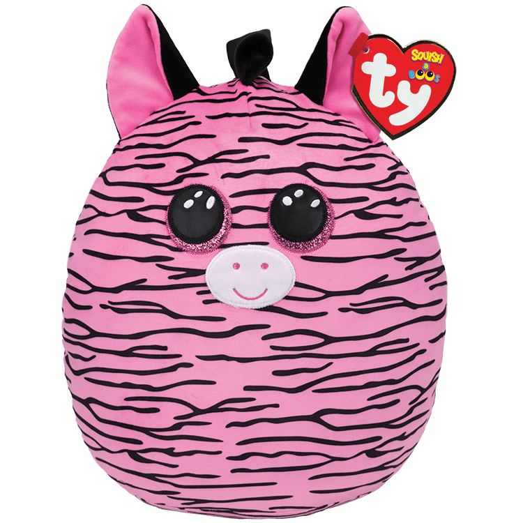 Zoey - Pink And Black Striped Zebra Large