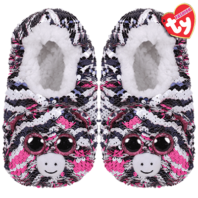 Ty Beanie Boos SLUSH the Husky Dog Boy/'s Toddler Slippers NWT