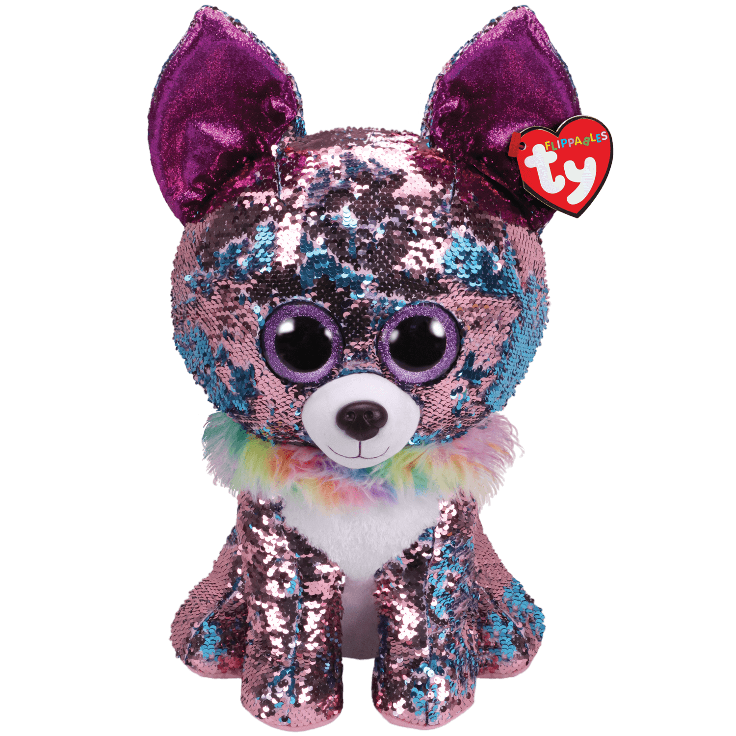 Yappy - Reversible Sequin Pink And Blue Chihuahua Large