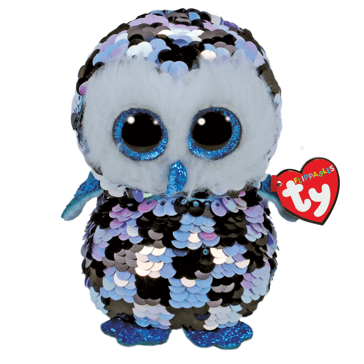 Topper - Reversible Sequin Blue Black Owl